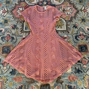 American Rag pink lace dress